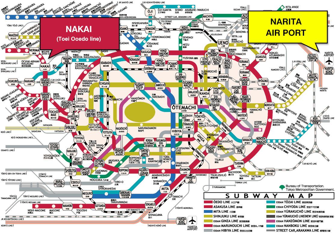 how to go to narita station from narita airport